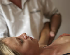 Patient recieving osteopathy at Brook Green Clinic west London